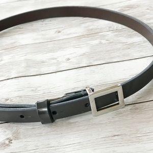 Thin Grey COACH Leather Belt